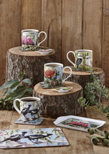 Set of 4 Mugs Australian Bird & Flora Collection