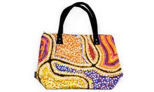 Ladies Canvas Bag Bunabiri Snake Dreaming By Valma Nakamarra White Size L x 48 x D 36 cm