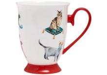 Ashdene Pampered Cats Feminine Footed Mug