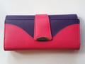 Cenzoni Cowhide Leather Ladies Multi Colour Wallet Hot Pink - Purple,