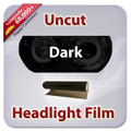 Uncut Headlight Tint - Dark Black