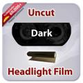 Uncut Headlight Tint - Dark Black
