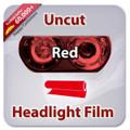 Uncut Headlight Tint - Red