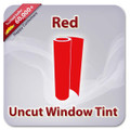 Uncut Colored Window Tint Film - Red