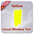 Uncut Colored Window Tint Film - Yellow