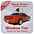 Precut Back Door Tint Kit for Acura Legend 2 Door 1987-1990
