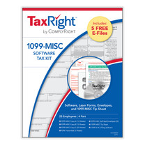 TaxRight 1099 Software Kit for 25 Employees. (Item # 6103ES25) 2021