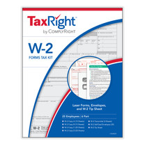 TaxRight W-2 Tax Form Kit for 25 Employees. Kit includes 25 forms and envelopes. (Item # C5650E25). 2021