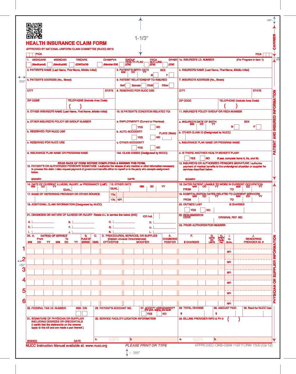 New cms 1500 0212 claim form free shipping new cms 1500 0212 claim form laser cut 25 thecheapjerseys Images