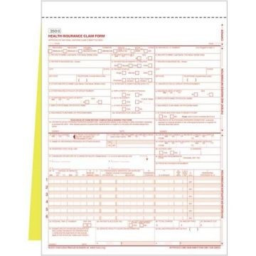 New Cms-1500 (02/12) Claim Form 2-Part Snap-Apart - Free Shipping