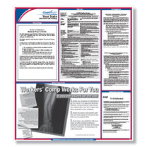 """ComplyRight STATE Labor Law Poster, Laminated size: 24-1/4"""" X 27"""".  (Item # STATELL)"""