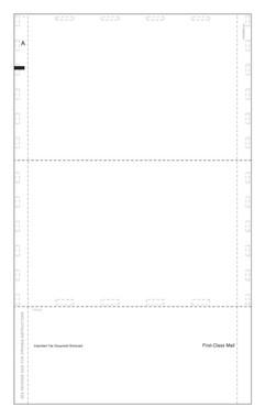 "ACA Form PS1095BCBLK Pressure Seal Blank (recipient copy), Blank Portrait 14"" Pressure Seal EZ Fold. Item # PS1095BCBLK."