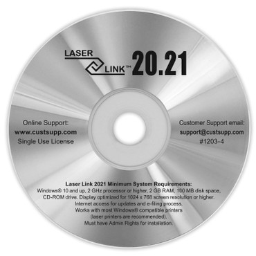 LASER LINK 2020 SOFTWARE (item # 12034).  Recommended for the small business. 2021