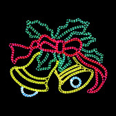 Large LED  Ringing Bells - Motif Rope light Silhouette