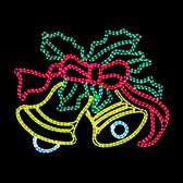 Large LED  Ringing Bells - Motif Rope light Silhouette