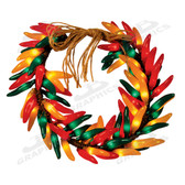 96 Multi-Color Chili Pepper Wreath - 10235PLW
