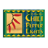 35 Red Chili Pepper String Light Set - 10235PL1R
