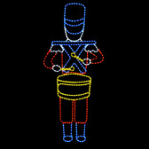 LED Drumming Toy Soldier