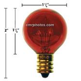 24V 5 WATT RED SPORTS ARENA GAME BULB - Pack (10 bulbs)