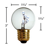 LED G16.5 E-27 BASE DECORATIVE BITSY BULB - Pack(25 bulbs) - 203LEDBITM165