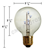 LED G25 E-27 BASE DECORATIVE  BITSY BULB - Pack(10 bulbs) - 203LEDBITM25