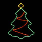 LED Christmas Tree with Star Window Display