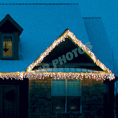 70 M5 ICE WARM WHITE LED ICICLE SET - Each