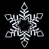 LED TWINKLING CLEAR SNOWFLAKE