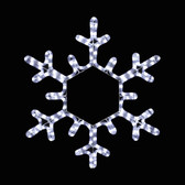 "19"" LED Rope Light Snowflake Silhouette Motif Yard Display"