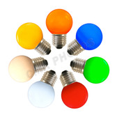 LED G48 E27 Base Color Options