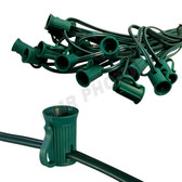 "100 Light 7 amp C7 12"" Socket Spacing Green"