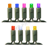 Waterproof 50L Wide Angle LED String Color Options