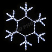 "24"" LED SNOWFLAKE ROPE LIGHT MOTIF SILHOUETTE DISPLAY - 100MOLS708"