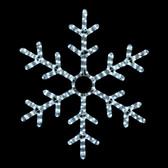 "25"" LED SNOWFLAKE ROPE LIGHT MOTIF SILHOUETTE DISPLAY - 100MOLS707"