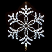 "24"" LED SNOWFLAKE ROPE LIGHT MOTIF SILHOUETTE DISPLAY - 100MOLS46"