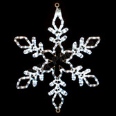 "24"" LED SNOWFLAKE ROPE LIGHT MOTIF SILHOUETTE DISPLAY - 100MOLS45"