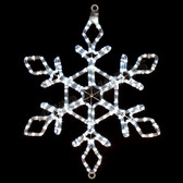 "22"" LED SNOWFLAKE ROPE LIGHT MOTIF SILHOUETTE DISPLAY - 100MOLS44"