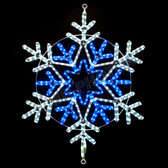 "31"" BLUE & WHITE LED ROPE LIGHT SNOWFLAKE MOTIF SILHOUETTE DISPLAY - 100MOLS39"