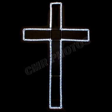6' LED CROSS ROPE LIGHT MOTIF SILHOUETTE DISPLAY - 100MOLCROSS-6