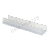 "5/8"" 4' CLEAR PVC MOUNTING TRACK - 10/PACK"