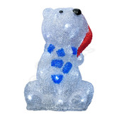 3-D Acrylic LED Bear with Hat - 100AMO1098 - Front View