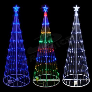 9 FOOT 3D LED SHOWMOTION CONE SHAPE MINI LIGHT TREE 100SHTREE9  - Led Mini Christmas Lights