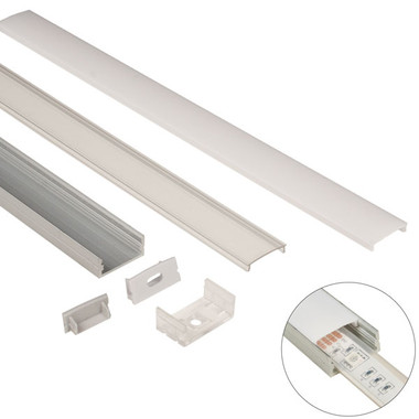 Aluminum Mounting Track shown with all options available