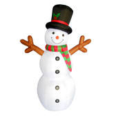 6ft Inflatable Snowman with Stick Arms