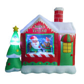 Santa's Workshop with Elf - 6ft tall Inflatable