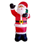 Santa with Waving Hand 8ft Tall Inflatable