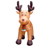 10.5ft Reindeer with Moving Head - Inflatable Yard Display