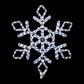 "12"" LED SNOWFLAKE ROPE LIGHT MOTIF SILHOUETTE DISPLAY - 100MOLS704"