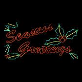 LED Seasons Greetings Silhouette Motif Yard Display