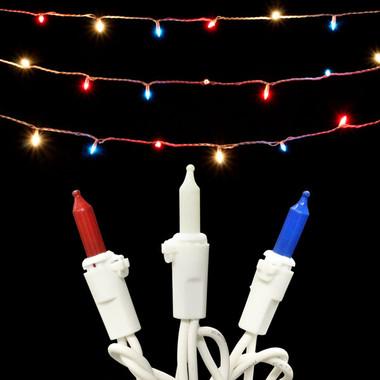50L Red / White / Blue Mini Light Set